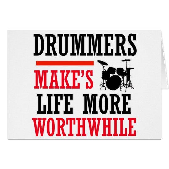 drummers design card