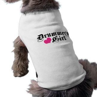 Drummer's Girl Sleeveless Dog Shirt