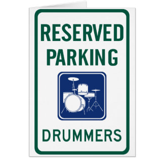 Drummers Parking Card