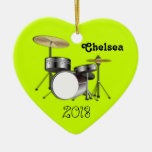 Drummers Personalised Christmas Photo Ornament