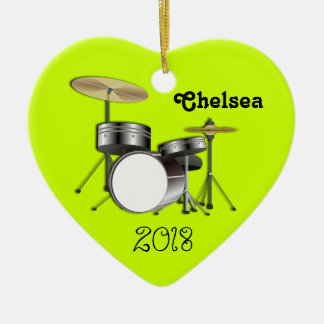 Drummers Personalized Christmas Photo Ornament