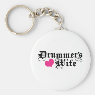 Drummer's Wife Key Ring