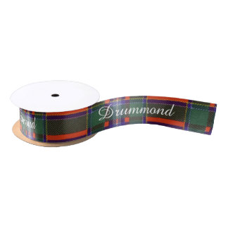 Drummond clan Plaid Scottish tartan Satin Ribbon