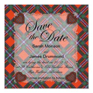 Drummond Scottish clan tartan - Plaid Card