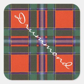 Drummond Scottish clan tartan - Plaid Square Stickers