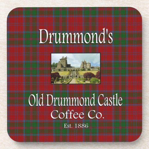 Drummond 39 s old drummond castle coffee co drink coasters for Drummond cleaning products