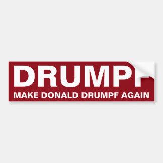 Drumpf Make Donald Drumpf Again Bumper Sticker