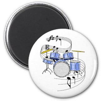 Drums 6 Cm Round Magnet