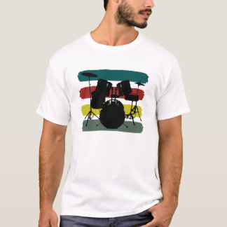 Drums and Stripes Retro Color Scheme Shirt