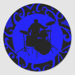 DRUMS BLUE LIGHT STICKERS