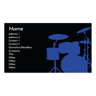Drums - Business Double-Sided Standard Business Cards (Pack Of 100)