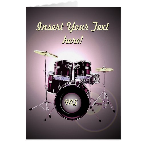 Drums (customizable) greeting cards