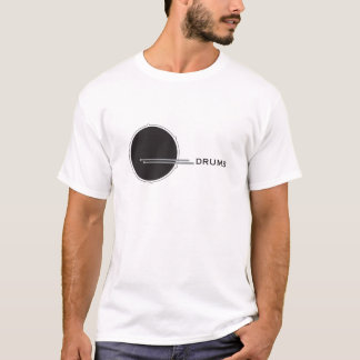 Drums Drummer Percussion Minimal White Music Cool. T-Shirt