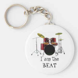 drums, I am theBEAT Basic Round Button Key Ring