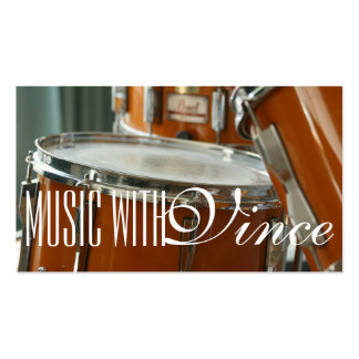 Drums Instructor Music Studio Business Card