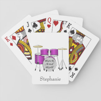 Drums Just Add Name Playing Cards