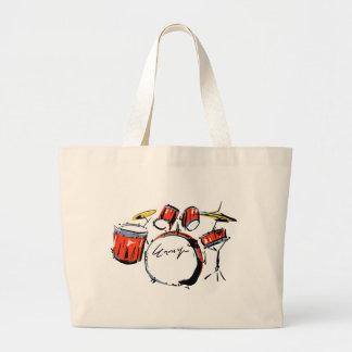 drums large tote bag