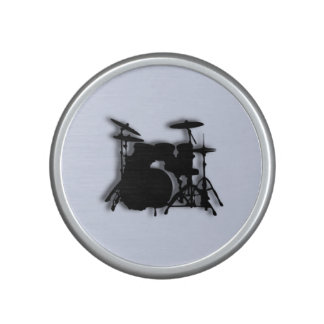 Drums Music Design Blue Bluetooth Speaker