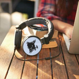 Drums Music Design Blue Headphones