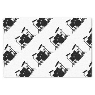 Drums Music Design Shower Curtain Tissue Paper