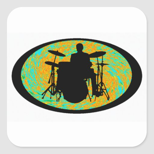 DRUMS OF HARMONY SQUARE STICKER