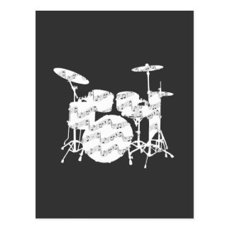 Drums Percussion Postcard