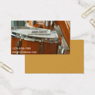 Drums / Percussion teacher Business Card