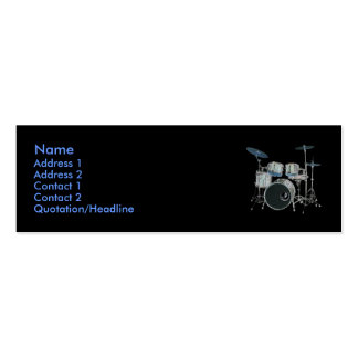 Drums Profile Card Business Card