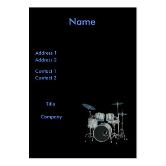 Drums Profile Card Business Card Templates