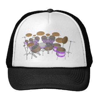 Drums: Purple & White Drum Kit: 3D Model: Cap