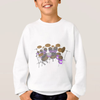 Drums: Purple & White Drum Kit: 3D Model: Sweatshirt