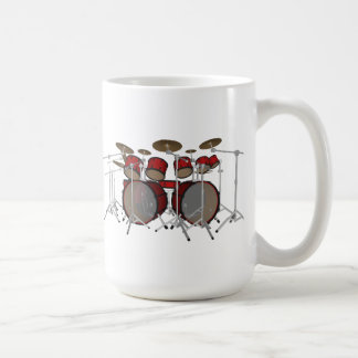 Drums: Red Drum Kit: 3D Model: Basic White Mug