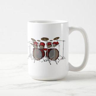 Drums: Red Drum Kit: 3D Model: Basic White Mug