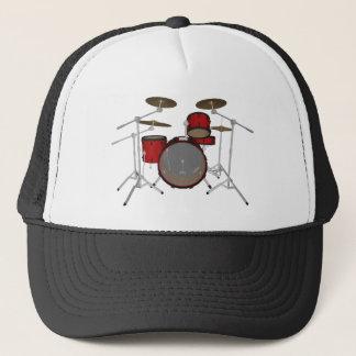 Drums: Red Drum Kit: 3D Model: Trucker Hat