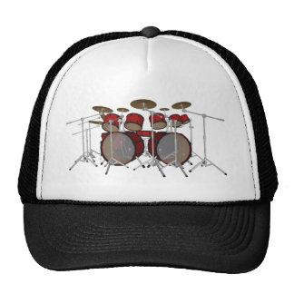 Drums Red Drum Kit 3D Model Trucker Hat