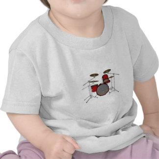 Drums Red Drum Kit 3D Model Tshirts