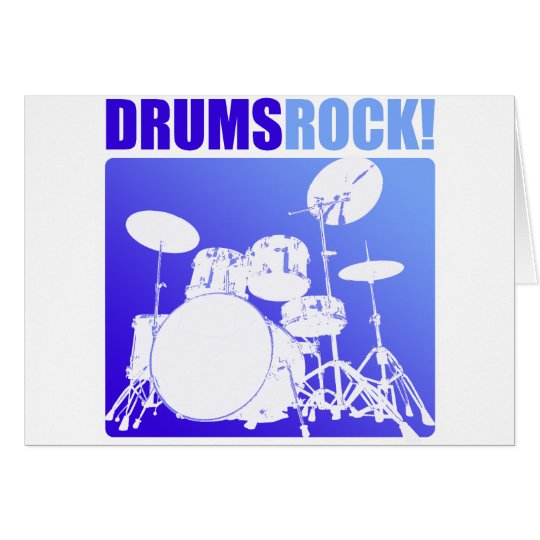 Drums Rocks! Card