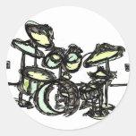 Drums Round Sticker