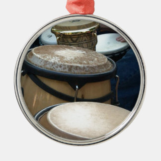 drums Silver-Colored round decoration