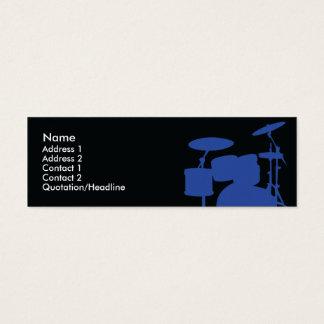 Drums - Skinny Mini Business Card