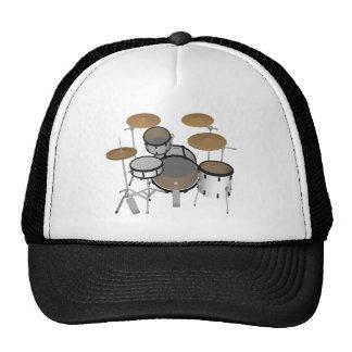 Drums: White Drum Kit: 3D Model: Cap