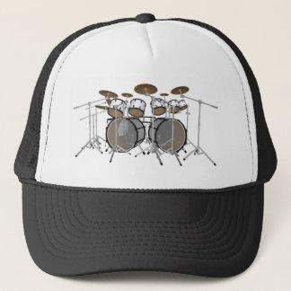 Drums: White Drum Kit: 3D Model: Trucker Hat