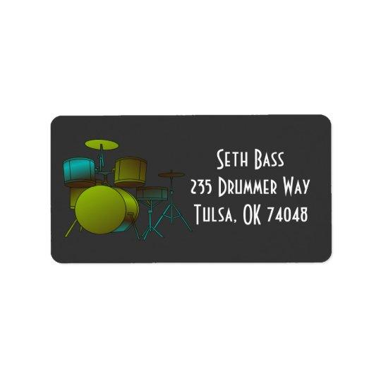 Drumset Address Avery Label