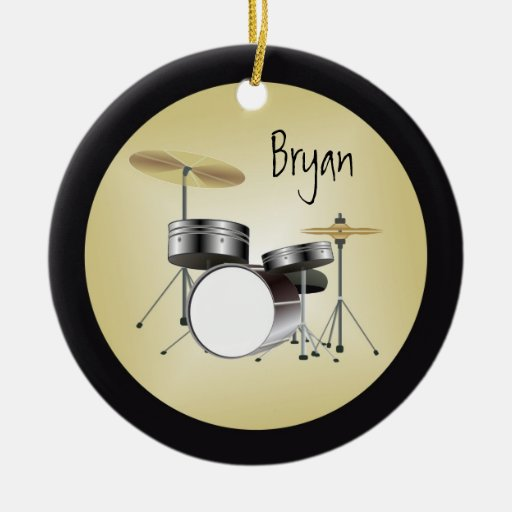 Drumset Personalized Christmas Ornament