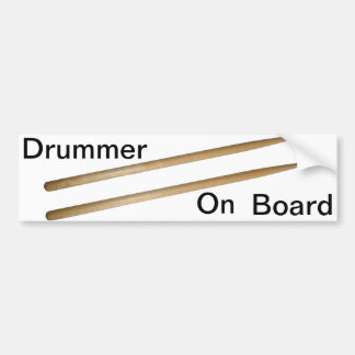 Drumsticks Car Bumper Sticker