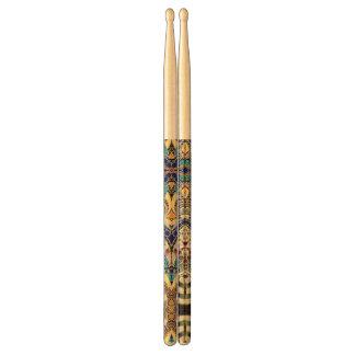Drumsticks Drawing Floral