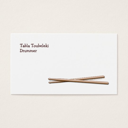 Drumsticks Drummer Business Card Template