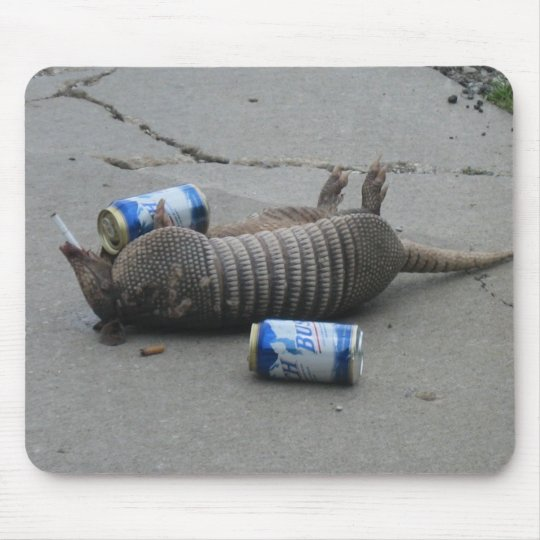 Drunk Armadillo Mouse Mat