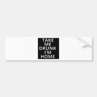 Drunk Bumper Sticker