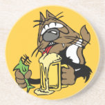 Drunk cat Coaster